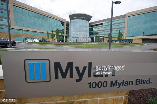Mylan headquarters stands July 14, 2014 in Canonsburg, Pennsylvania The generic drugmaker Mylan is buying Abbott Laboratories' generic-drugs business...