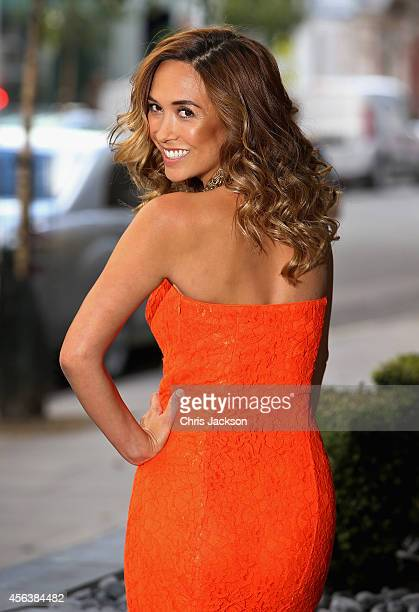 Myleen Klass attends a photocall to launch the latest Myleene Klass for Littlewoods collection at the Sanderson Hotel on September 30, 2014 in...