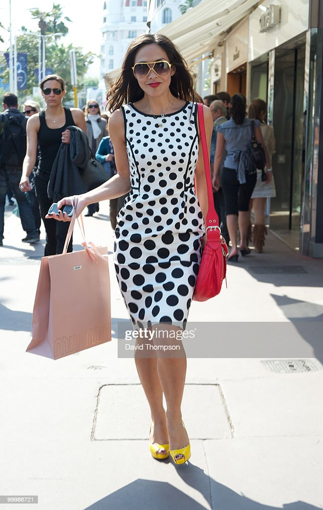 Myleen Klass seen shopping on the croiestte on May 19, 2010 in Cannes, France.
