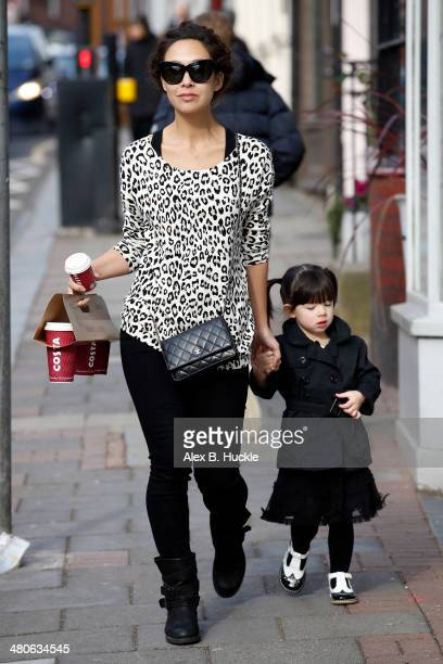 Myleene Klass and daughter Hero Quinnsighted in Highgate on March 26 2014 in London England