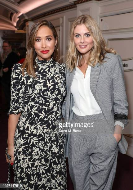 Myleene Klass and Donna Air attend the press night performance of the English National Opera's Carmen at The London Coliseum on January 29 2020 in...