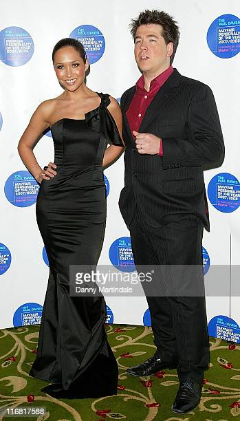 Myleene Klass and Michael McIntyre attend the Mayfair Personality Of The Year at the Ballroom in the Grosvenor House Hotel on March 12, 2008 in...