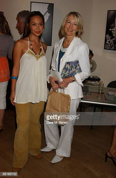 Myleene Klass and Sandra Howard attend the Private View for The Sixties Set An Inside View By Robin DouglasHome at The Air Gallery on June 28 2005 in...