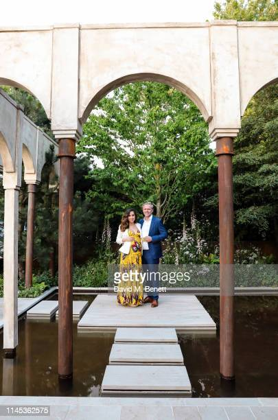 Myleene Klass and Simon Motson attend the Wedgwood 260th Anniversary Party during the Chelsea Flower Show at The Royal Hospital Chelsea on May 21,...
