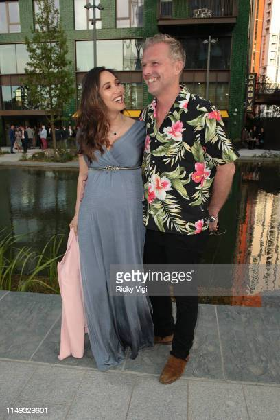 Myleene Klass and Simon Motson seen attending Darby's restaurant launch party on May 15 2019 in London England
