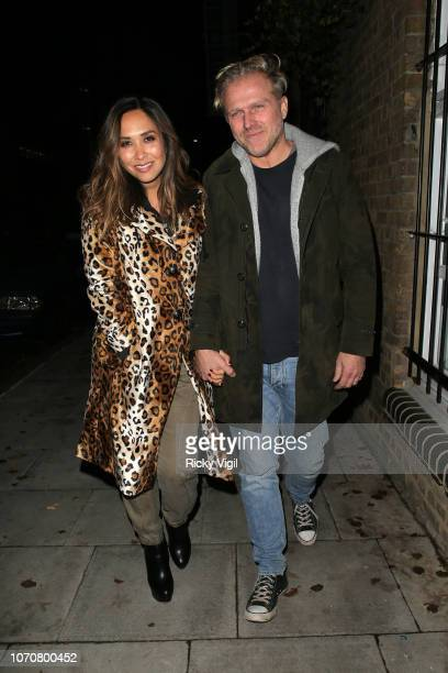 Myleene Klass and Simon Motson seen attending How To Catch A Krampus press night at Pleasance Theatre on November 21 2018 in London England