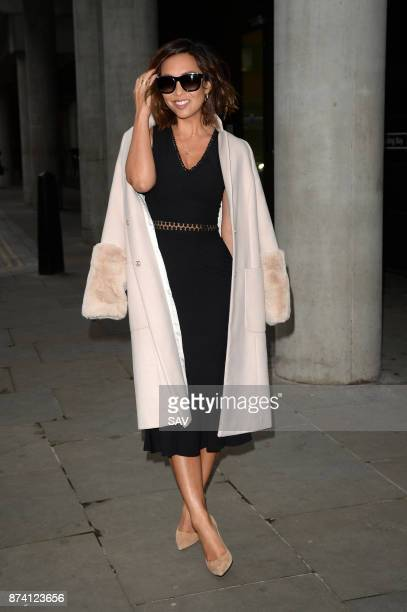 Myleene Klass arrives at AOL for the Build Series on November 14 2017 in London England