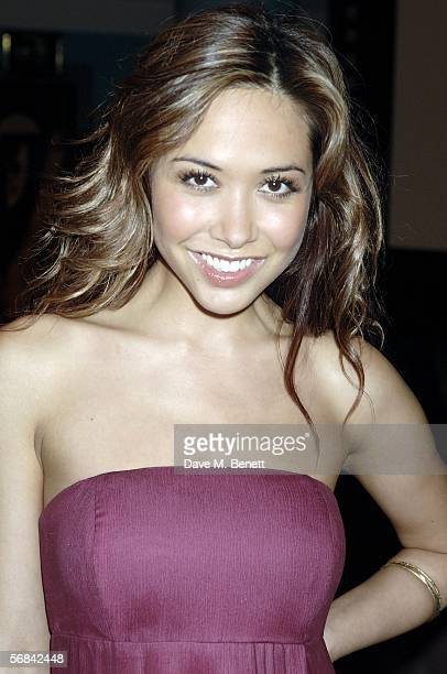Myleene Klass arrives at the UK Premiere of 'Casanova' at Vue West End on February 13 2006 in London England