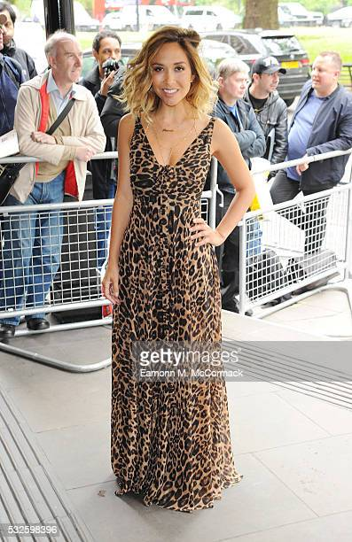 Myleene Klass arrives for the Ivor Novello Awards at Grosvenor House on May 19 2016 in London England
