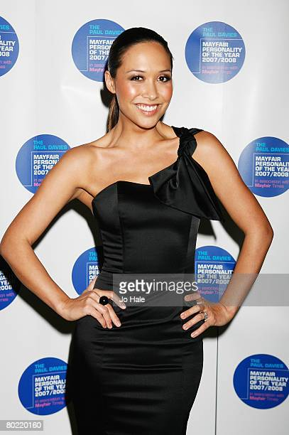 Myleene Klass arrives for the Mayfair Personality of the Year at Grosvenor House on March 12 2008 in London England