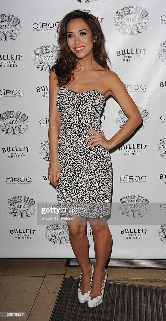 Myleene Klass arrives for the 'Steam and Rye' Restaurant launch party on November 19, 2013 in London, England.