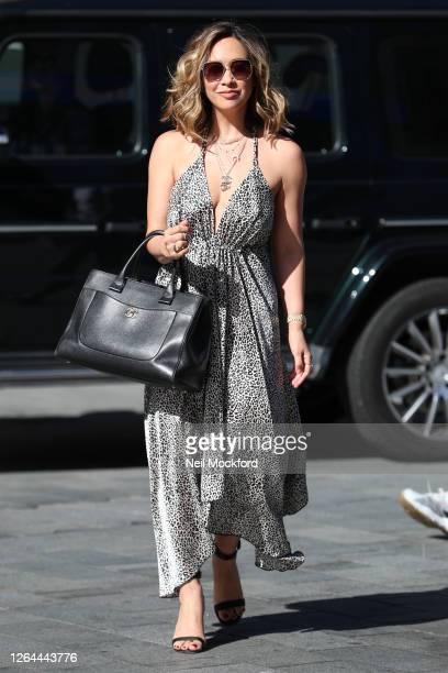 Myleene Klass arriving at Smooth Radio Studios on August 07 2020 in London England