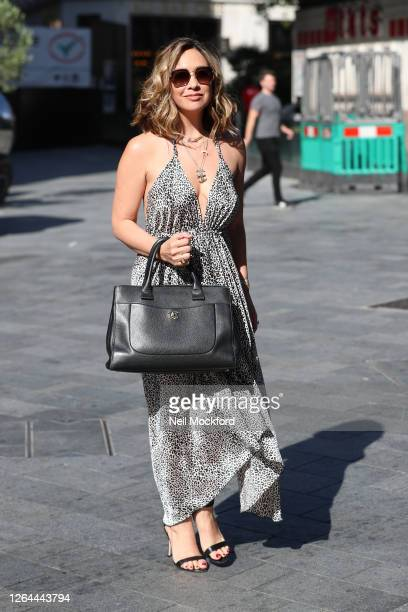 Myleene Klass arriving at Smooth Radio Studios on August 07 2020 in London England
