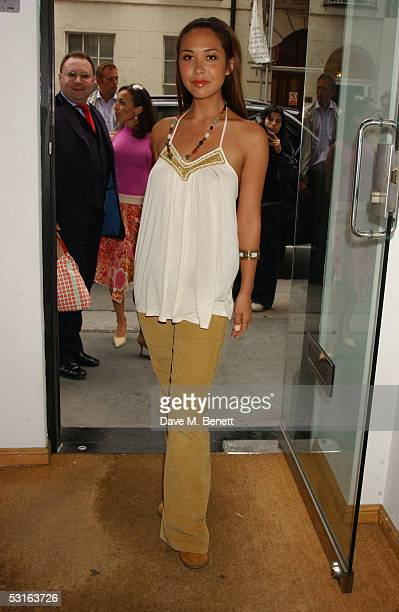 Myleene Klass attend the Private View for The Sixties Set An Inside View By Robin DouglasHome at The Air Gallery on June 28 2005 in London England...