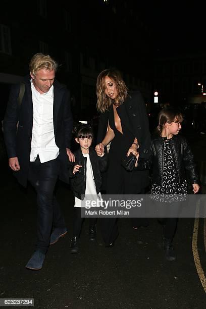 Myleene Klass attending the School of Rock the musical VIP press night on November 14, 2016 in London, England.