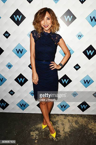 Myleene Klass attends a celebration of the new TV channel W launching on Monday 15th February at Union Street Cafe on February 11 2016 in London...
