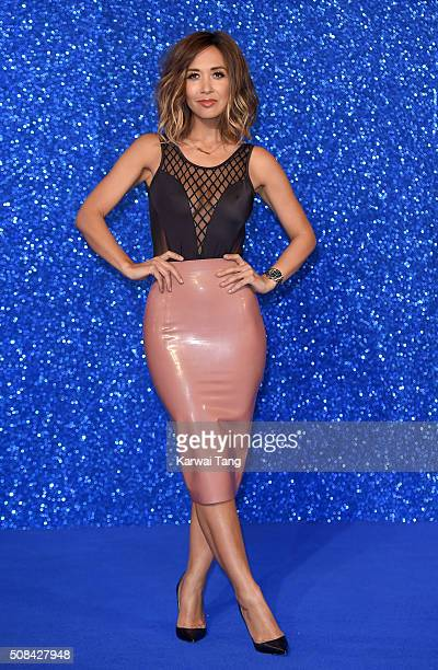 Myleene Klass attends a London Fan Screening of the Paramount Pictures film 'Zoolander No 2' at Empire Leicester Square on February 4 2016 in London...