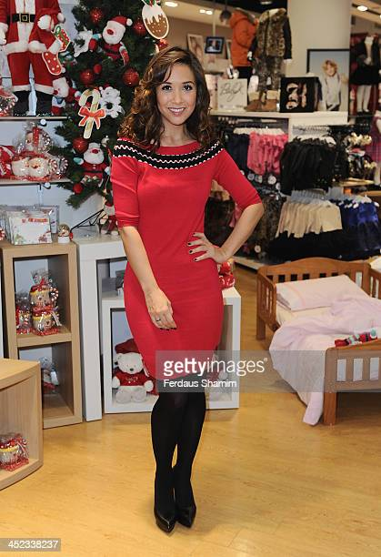 Myleene Klass attends a photocall ahead of VIP Christmas party at the newly refurbished Oxford Street Store at Mothercare Oxford Street on November...