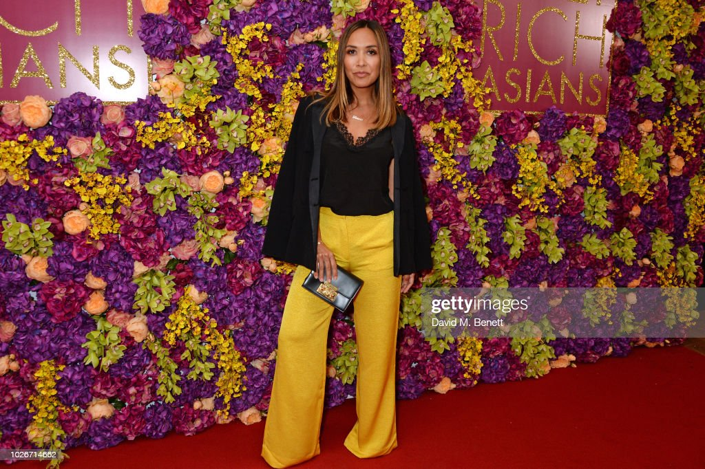 Myleene Klass attends a special screening of 'Crazy Rich Asians' at The Ham Yard Hotel on September 4, 2018 in London, England.