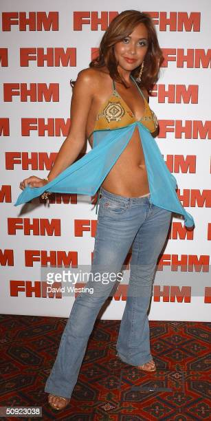 Myleene Klass attends FHM 100 Sexiest Women party celebrating annual poll of 100 sexiest women as voted by readers of the men's magazine at Guildhall...