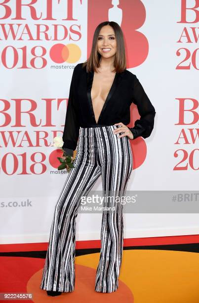 AWARDS 2018 *** Myleene Klass attends The BRIT Awards 2018 held at The O2 Arena on February 21 2018 in London England