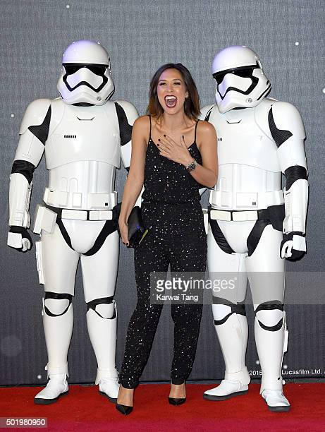 Myleene Klass attends the European Premiere of 'Star Wars The Force Awakens' at Leicester Square on December 16 2015 in London England