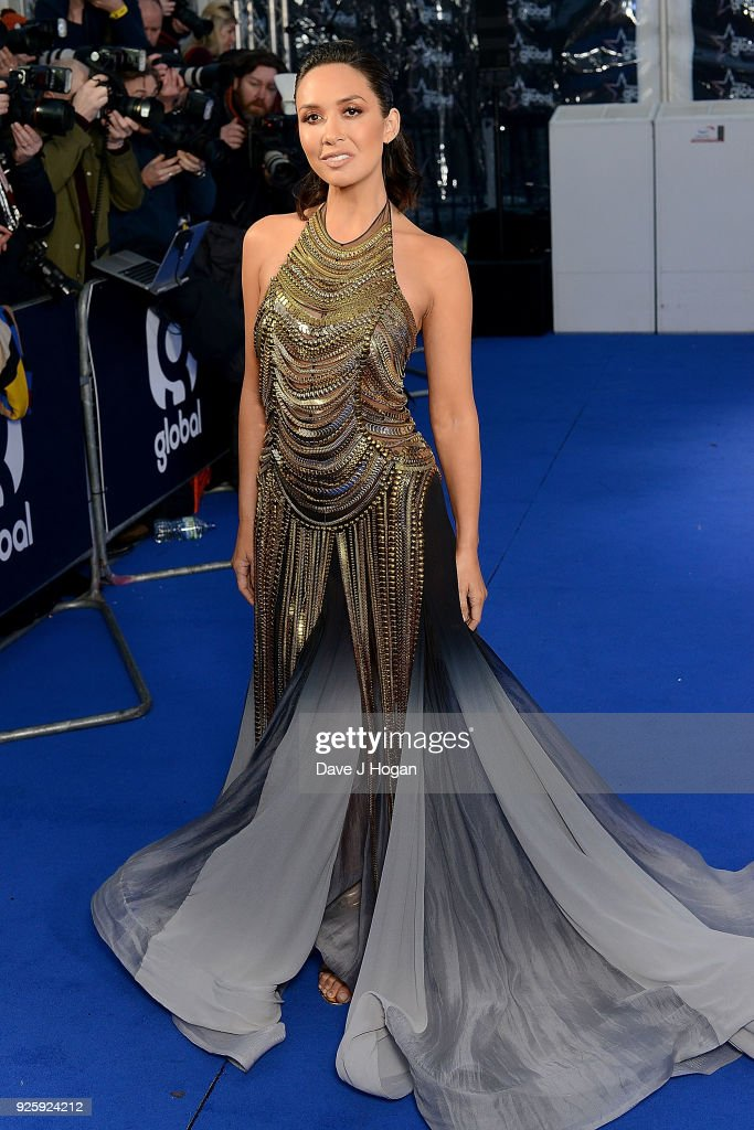 Myleene Klass attends The Global Awards 2018 at Eventim Apollo, Hammersmith on March 1, 2018 in London, England.