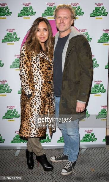 Myleene Klass attends the 'How to Catch A Krampus' press night at Pleasance Theatre on November 21 2018 in London England