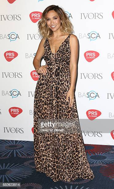 Myleene Klass attends the Ivor Novello Awards 2016 at The Grosvenor House Hotel on May 19 2016 in London England