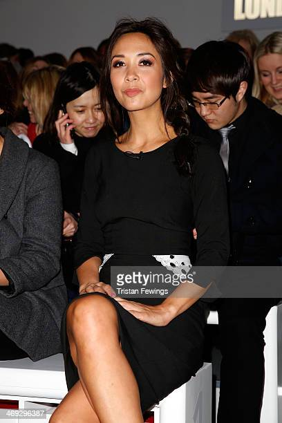 Myleene Klass attends the J JS Lee show at London Fashion Week AW14 at Somerset House on February 14 2014 in London England