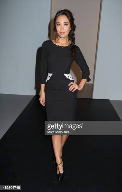 Myleene Klass attends the J JS Lee show at London Fashion Week AW14 at on February 14 2014 in London England