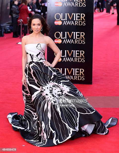Myleene Klass attends the Laurence Olivier Awards held at The Royal Opera House on April 13 2014 in London England