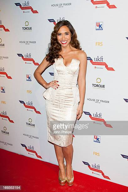 Myleene Klass attends the NatWest UK Fashion Textile Awards 2013 at One Mayfair on May 23 2013 in London England