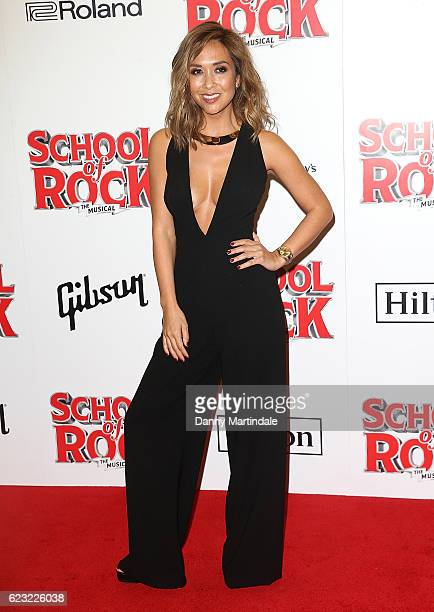 Myleene Klass attends the opening night of 'School Of Rock The Musical' at The New London Theatre, Drury Lane on November 14, 2016 in London, England.