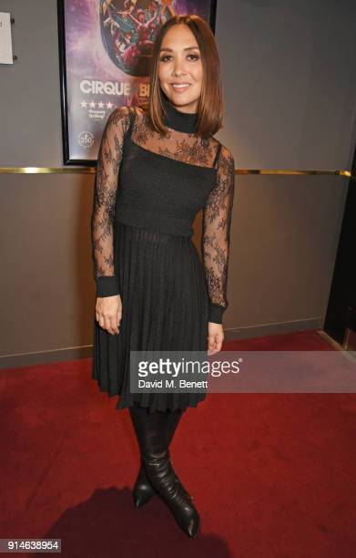 Myleene Klass attends the press night after party for 'Cirque Berserk' at The Peacock Theatre on February 5 2018 in London England