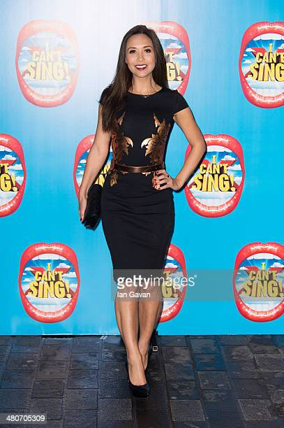 Myleene Klass attends the press night of 'I Can't Sing The X Factor Musical' at London Palladium on March 26 2014 in London England