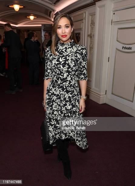 "Myleene Klass attends the press night performance of the English National Opera's ""Carmen"" at The London Coliseum on January 29, 2020 in London,..."