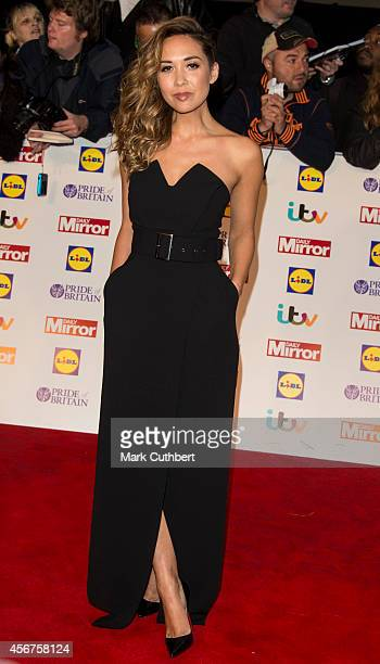 Myleene Klass attends the Pride of Britain awards at The Grosvenor House Hotel on October 6, 2014 in London, England.