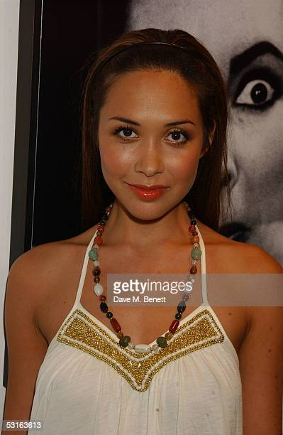 Myleene Klass attends the Private View for The Sixties Set An Inside View By Robin DouglasHome at The Air Gallery on June 28 2005 in London England...