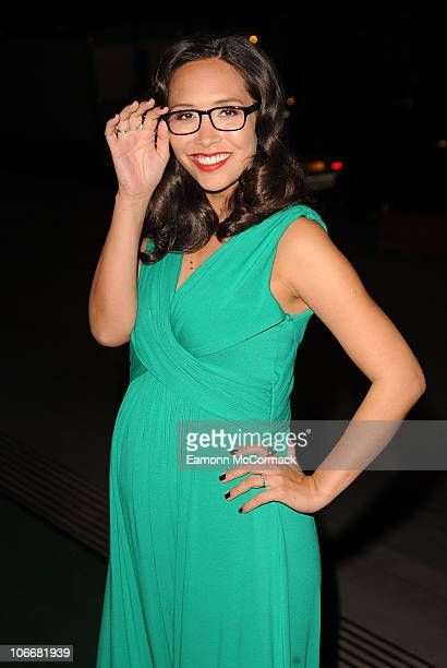 Myleene Klass attends the Spectacle Wearer Of The Year ceremony which celebrates the year's best glasseswearing individuals at Victoria Albert Museum...