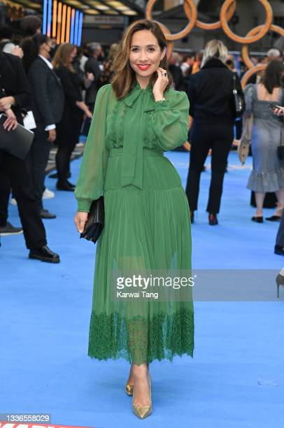 """Myleene Klass attends the UK premiere of """"Shang-Chi and the Legend of the Ten Rings"""" at The Curzon Mayfair on August 26, 2021 in London, England."""