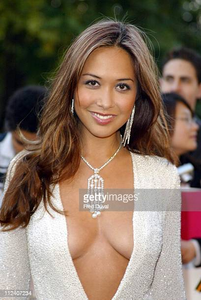 Myleene Klass during 2004 MOBO Awards Arrivals at Royal Albert Hall in London in London United Kingdom
