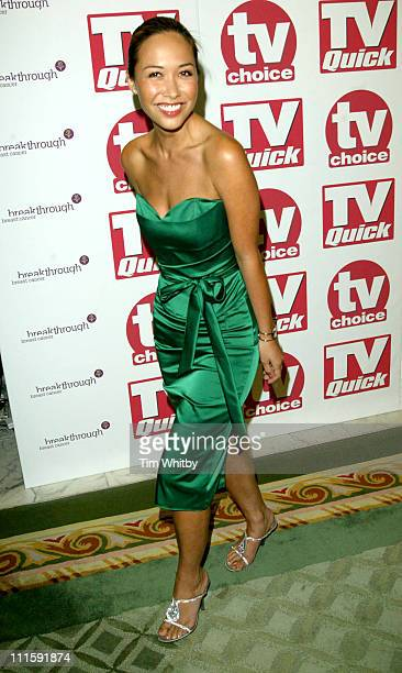 Myleene Klass during 2005 TV Quick TV Choice Awards Arrivals at Dorchester Hotel in London Great Britain