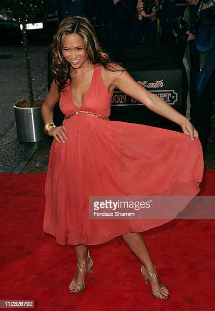 Myleene Klass during An Audience with 'Coronation Street' April 9 2006 at ITV Studios in London Great Britain
