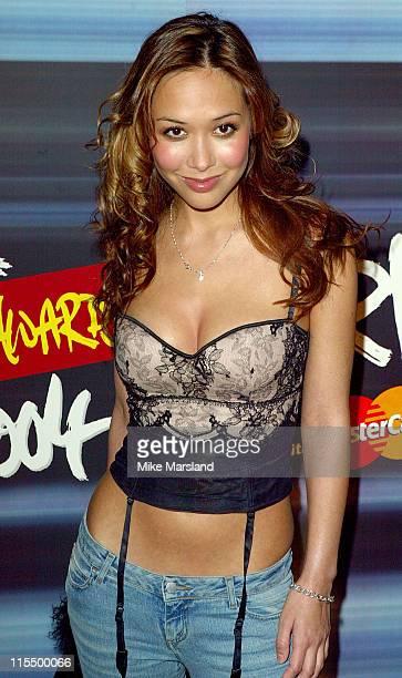 Myleene Klass during The Brit Awards 2004 Nominations Arrivals at Park Lane Hotel in London United Kingdom