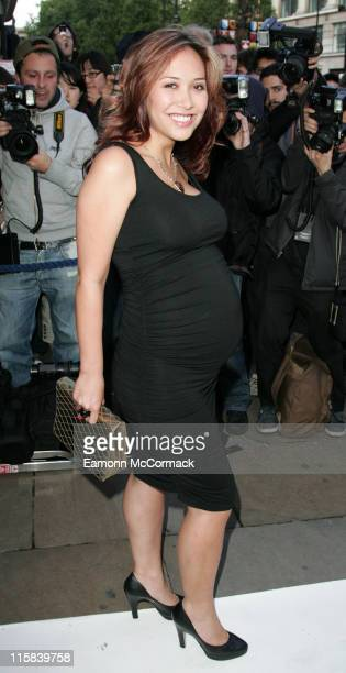 Myleene Klass during The Perfume Shop/LK High Street Fashion Awards Outside Arrivals at Cafe de Paris in London Great Britain