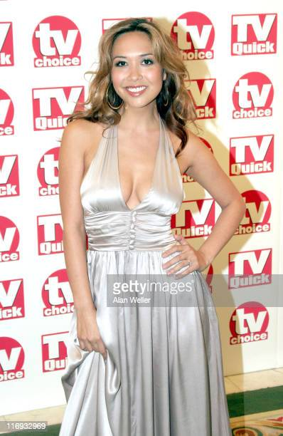 Myleene Klass during TV Quick Awards & TV Choice Awards - Inside Arrivals at The Dorchester in London, Great Britain.