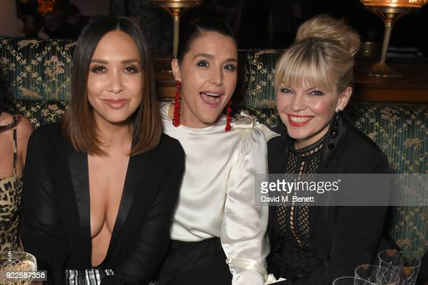 Myleene Klass Jessie Ware and Zoe Ball attend the Universal Music BRIT Awards AfterParty 2018 hosted by Soho House and Bacardi at The Ned on February...