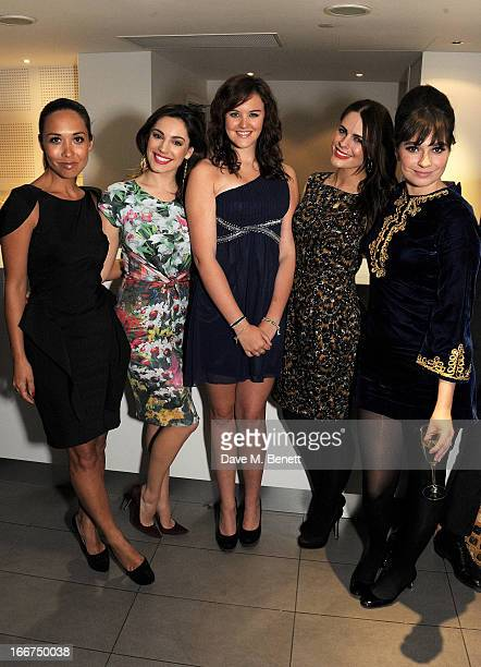 Myleene Klass Kelly Brook Ashleigh Butler Susie Amy and Gizzi Erskine attend a drink reception celebrating 'An Evening With Chickenshed' a cabaret...