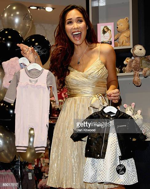 Myleene Klass launches her new 'Baby K' clothing range at Mothercare on Oxford Street on September 26 2008 in London England